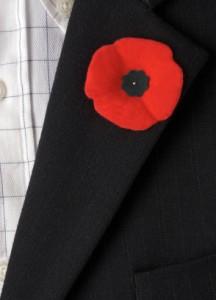 Wear Poppy Pin Or American Flag